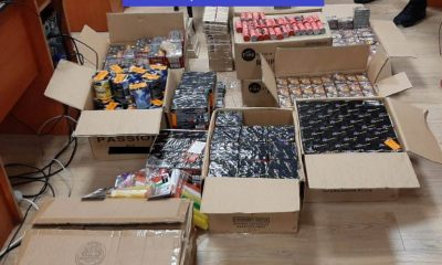 Aproape 2 tone de articole pirotehnice, confiscate la Cluj