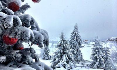 Zapadă în munţii Clujului. La Băişoara se pregăteşte pârtia de ski