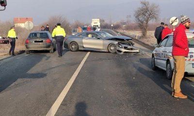 Accident cu trei victime pe DN1C, la Coplean