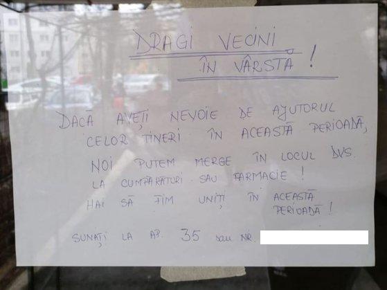 Gestul de suflet al unor studenţi din Cluj, în plină criză COVID-19: Cumpără mâncare şi medicamente pentru bătrâni