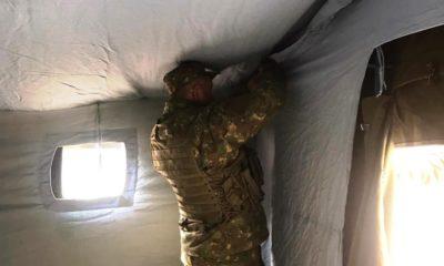 Coronavirus / Armata a instalat un cort de triaj în centrul Clujului