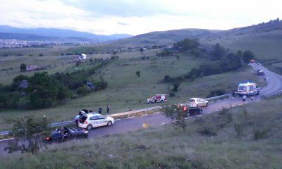 Accident Cluj: O mașină a făcut tumbe pe varianta Grigorescu - Florești