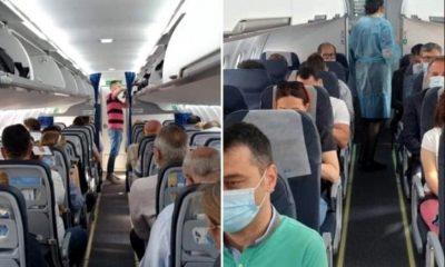 Oamenii au început să zboare pe destinațiile interne. Imagini din avionul Timișoara – Cluj – București