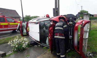 Alte două mașini răsturnate la Cluj. Două femei au fost rănite