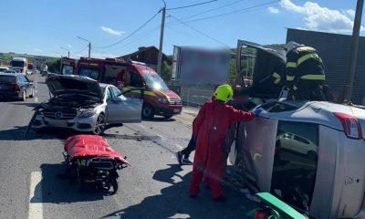 Maşină răsturnată în Jucu