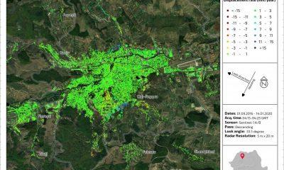 Se deplasează terenul în zonele cu construcţii haotice din Cluj. Hartă din satelit