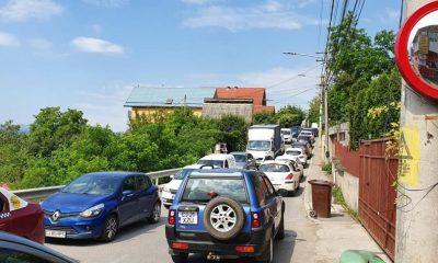 Trafic infernal pe Cluj - Florești. Varianta prin Grigorescu, sufocată de mașini