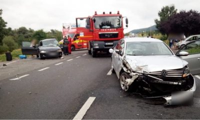 Accident grav în Gilău. Un șofer beat a încercat depășirea unei coloane