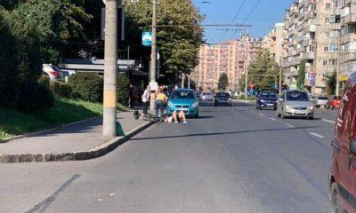 Biciclist lovit de mașină pe Izlazului