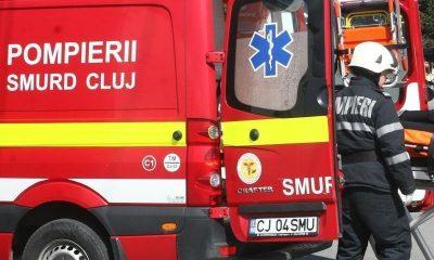 Cluj: Microbuz cu pasageri, implicat într-un accident