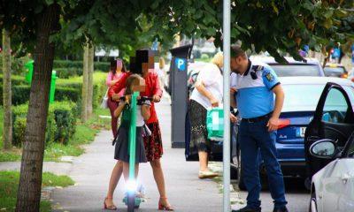 Razie pe străzile din Cluj: 31 de amenzi pentru biciclişti şi trotinetişi, 7 permise reţinute