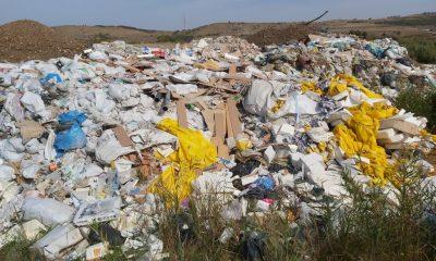 Tone de deșeuri aruncate pe malul Someșului, lângă centura ocolitoare a orașului