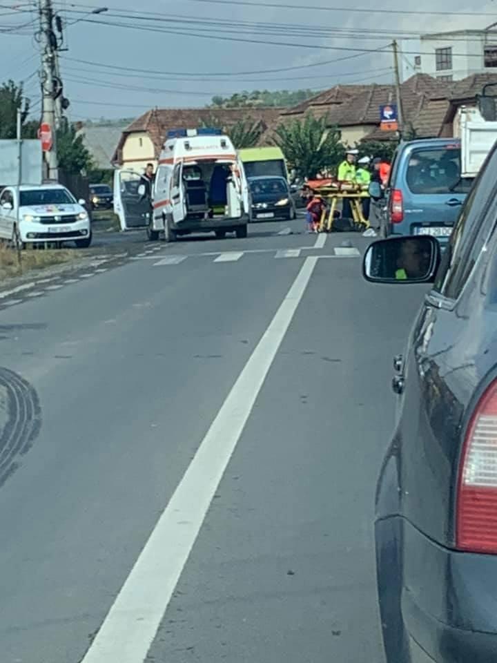 Accident Cluj: Bătrân, spulberat de maşină pe trecere