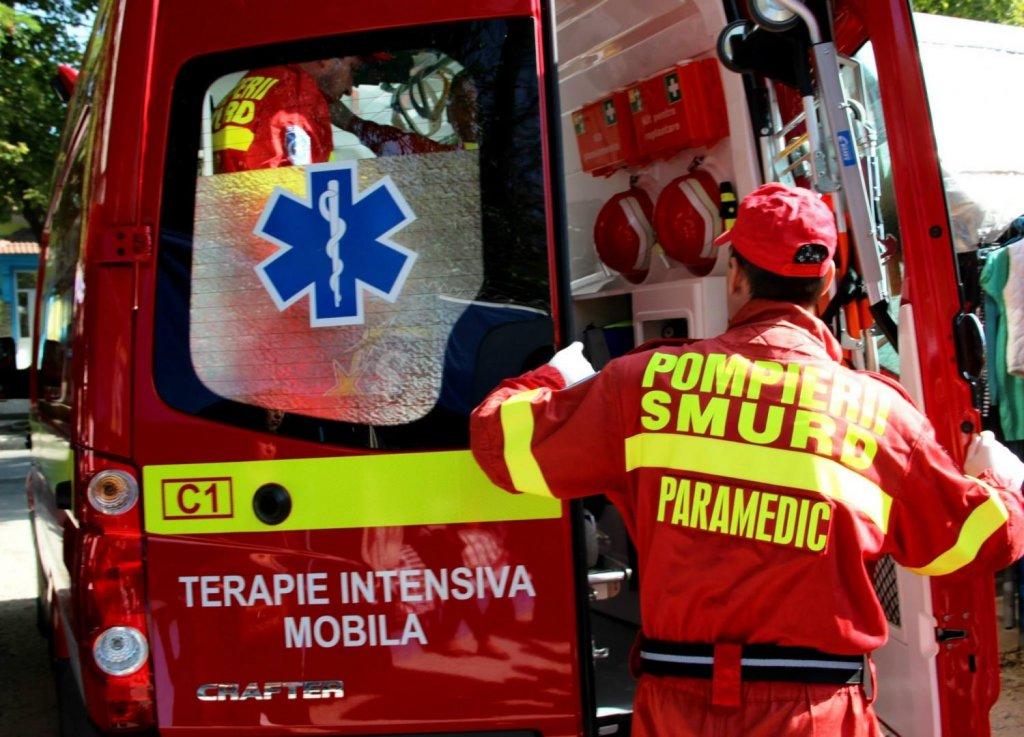 Accident lângă Cluj. O femeie a avut nevoie de manevre de resuscitare