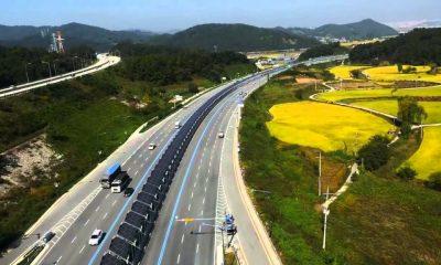 Coreenii au construit autostrada solară pentru bicicliști. Îi protejează de mașini sau ploaie