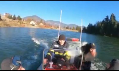 Scafandrii de urgență din Cluj se antrenează într-un lac cu apă rece ca gheața