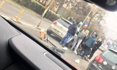 Trotinetist lovit de mașină în Gheorgheni