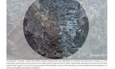 Clujul din satelit! Zorilor în 2003, Florești în 2009 sau Bună Ziua în 2019