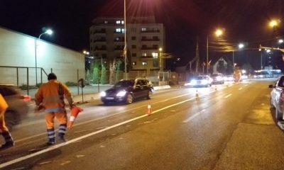 Se deschide circulaţia pe noul pod din Baciu. Au apărut, în grabă mare, şi marcajele rutiere