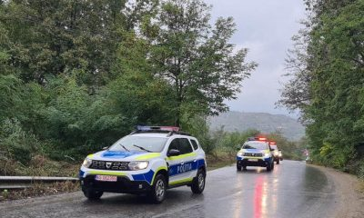 Transportul sacilor cu buletinele de vot, păzit de poliție la Cluj