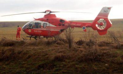 Accident grav la ieșirea din Huedin. Victimele, preluate de elicopterul SMURD