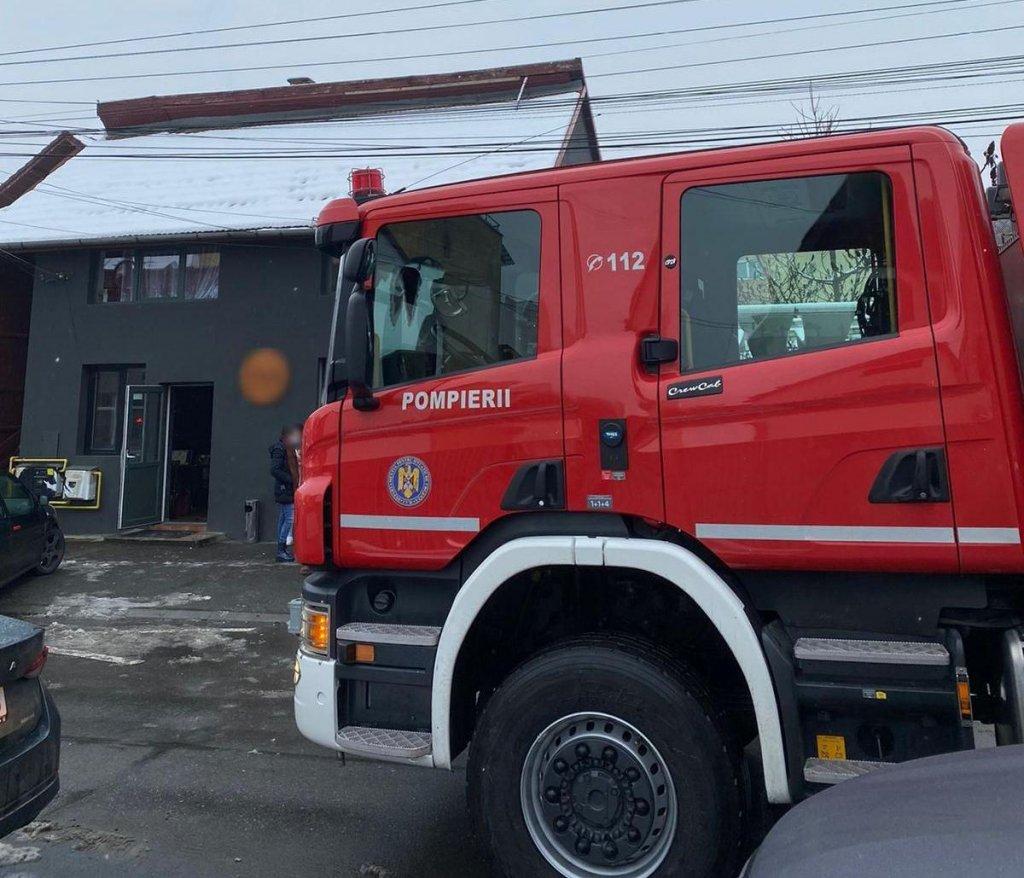 Incendiu la un restaurant din Cluj. Au intervenit pompierii