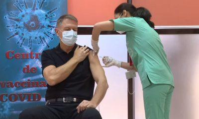 Iohannis, după ce a primit prima doză de ser anti-COVID: Vaccinul este sigur. Este o procedură simplă, nu doare, recomand tuturor vaccinarea