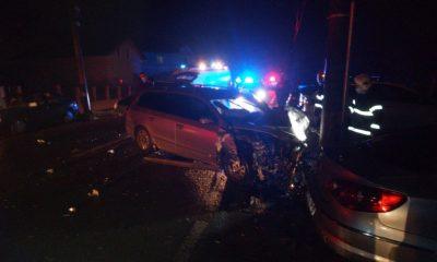 ACCIDENT în Cluj! Au rupt stâlpii de electricitate în urma impactului