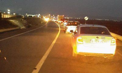 Accident cu trei mașini făcute praf la ieșirea din Cluj