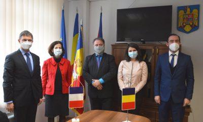 Ambasadoare Franței în România, în vizită la Consiliul Județean Cluj. Parteneriate în IT, transporturi, sistemul medical