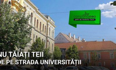 PETIŢIE! Nu tăiați teii de pe strada Universității!