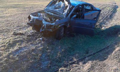 Panică la Cluj: Mașină făcută scrum, șoferul s-a făcut nevăzut. Ce au descoperit pompierii