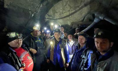"""De la Cluj, direct în mină. Liderul AUR, George Simion, a coborât în subteran la minerii """"trimişi de director la sparanghel, în Germania"""""""