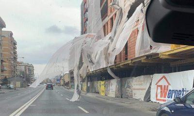 IMGINEA ZILEI. Când bate vântul pe șantierele Clujului...