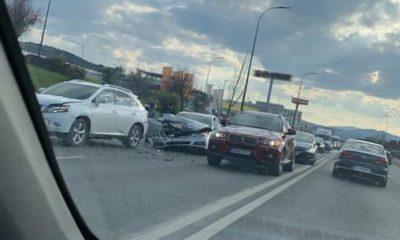 """Accident la intrarea în Cluj-Napoca, dinspre Florești. """"Aglomerat pentru că toți stați și vă holbați"""""""