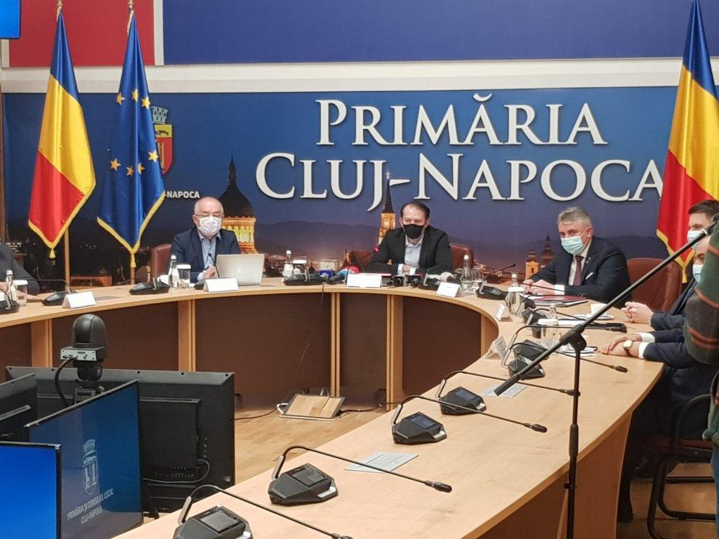 Conferință de presă susținută de premierul Florin Cîțu la Cluj-Napoca