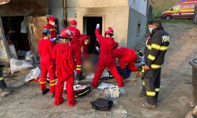 INCENDIU la Cluj. O femeie a fost resuscitată şi intubată în urma unei explozii la o butelie de gaz