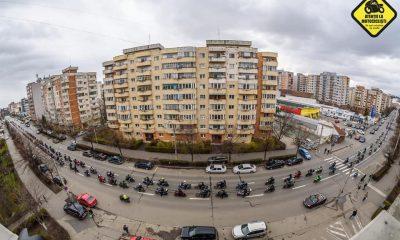 """Spectacol motoristic pe străzile Clujului. Au rulat """"cot la cot"""" cu polițiștii"""