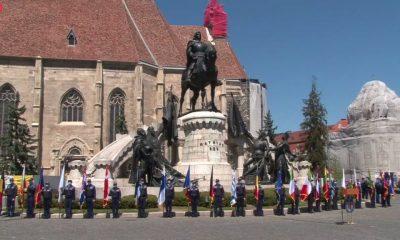 A început Ziua Europei la Cluj. Piața Unirii, în straie de sărbătoare