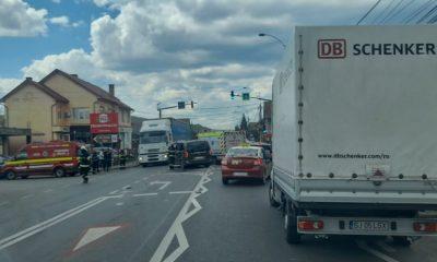 Accidentele se țin lanț la Cluj. Coliziune între două mașini în Baciu