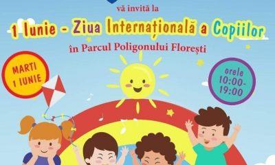 Evenimente de 1 Iunie, în Parcul Poligonului din Florești