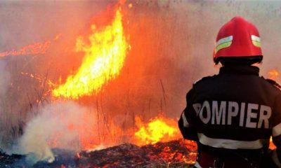 O gospodărie din Cluj a luat foc de la un coș necurățat