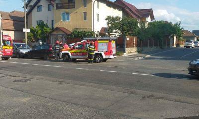 Accident pe strada Plevnei din Cluj-Napoca! A fost nevoie de intervenția echipajelor SMURD