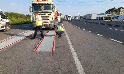 Depăşirile de tonaj la camioanele verificate în judeţul Cluj, i-au lăsat pe şoferi fără plăcuţele de înmatriculare