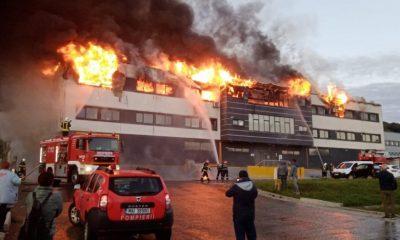 Incendiul de la Tetarom a fost stins. Nu se cunoaște cauza
