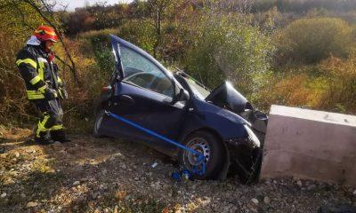 ACCIDENT teribil în Cluj! Un şofer A MURIT în impactul cu un cap de pod de pe contrasens